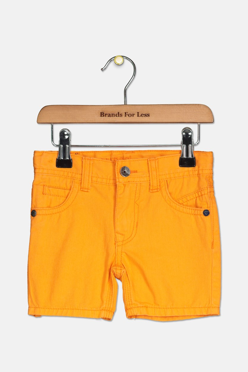 Toddlers Girls Twill Shorts, Orange