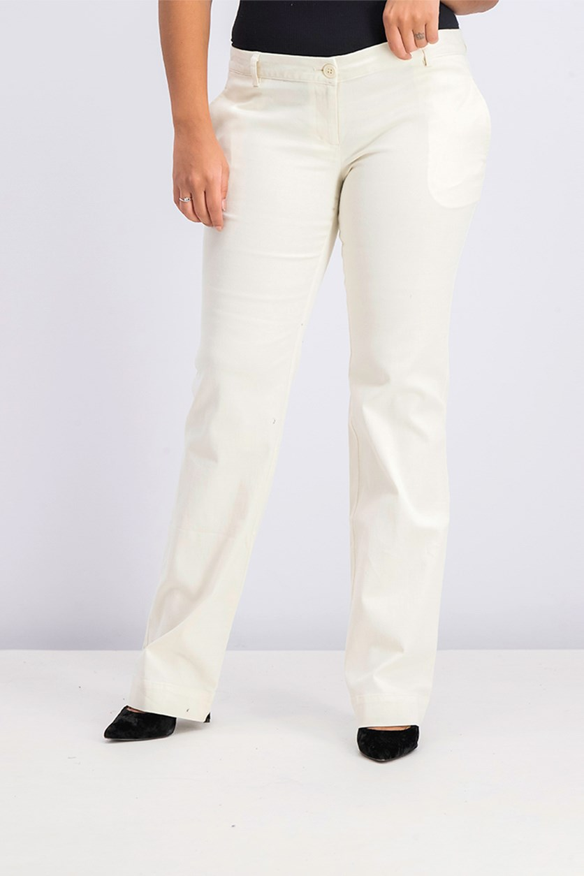 Women Bootcut Pants, Beige