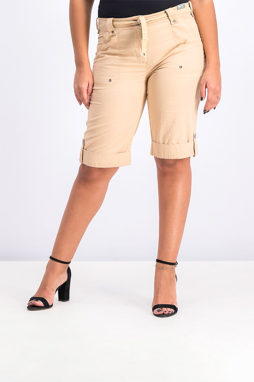 Women Academy Short, Light Brown