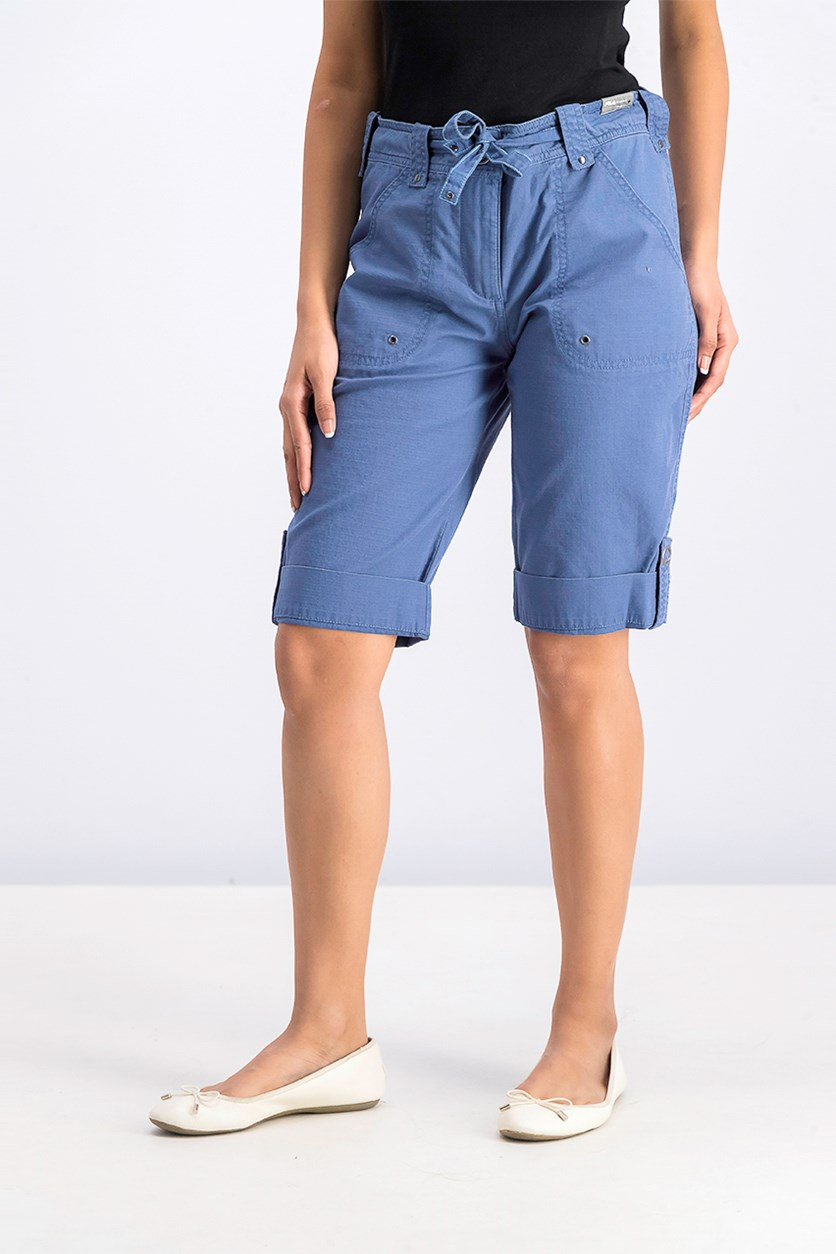 Women's Cuffed Hem Short, Blue