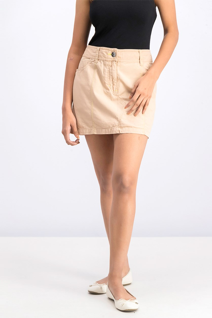 Women Academy Skirt, Light Brown