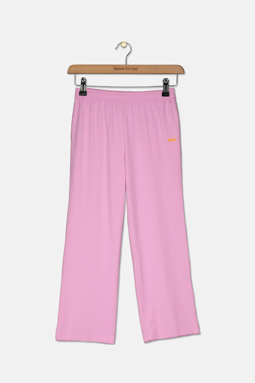 Girls Elastic Waist Pants, Pink