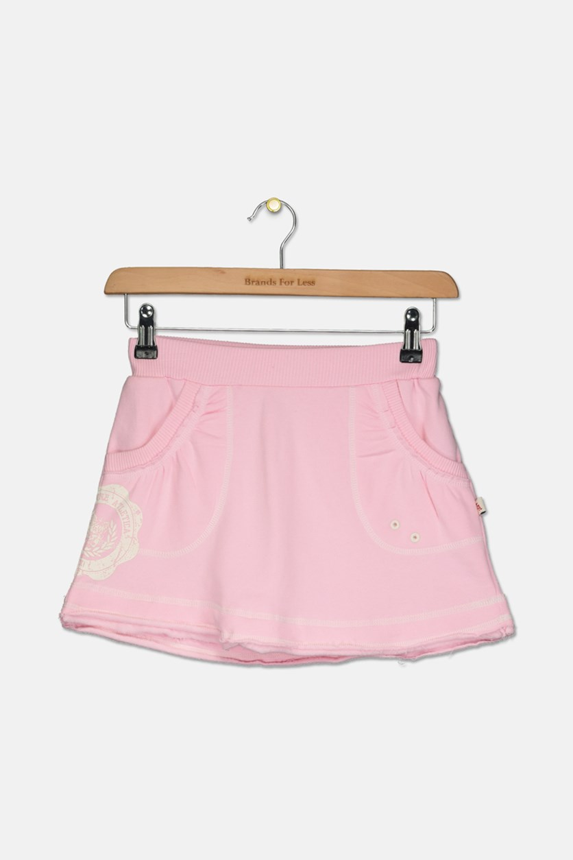 Girl's Pull On Skirt, Pink