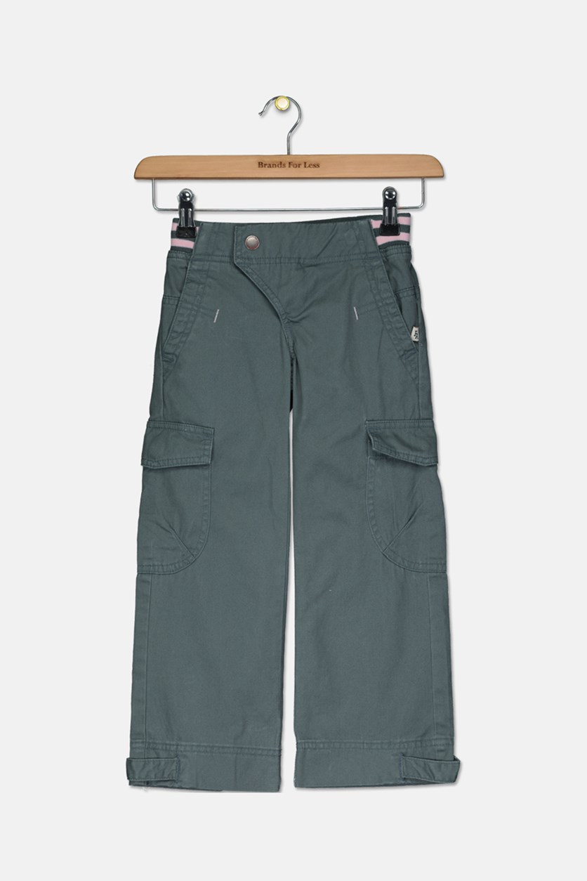 Girl's Cargo Pants, Green