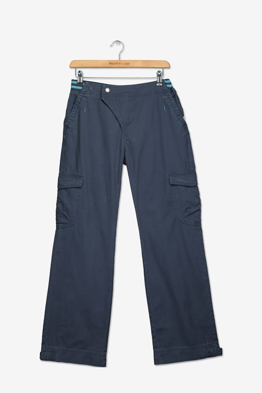 Boy's Cargo Pants, Navy	Wash
