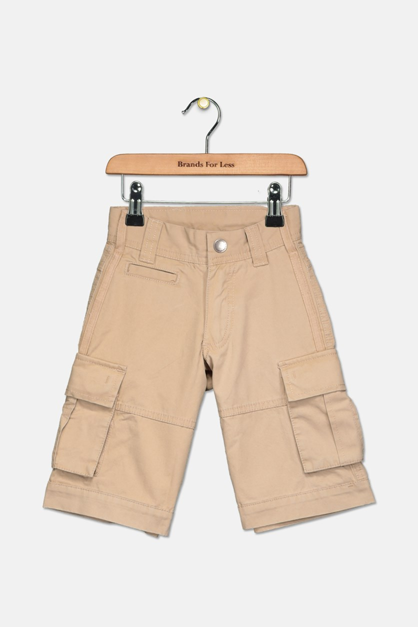 Filla Little Boy's Cargo Short, Light Brown