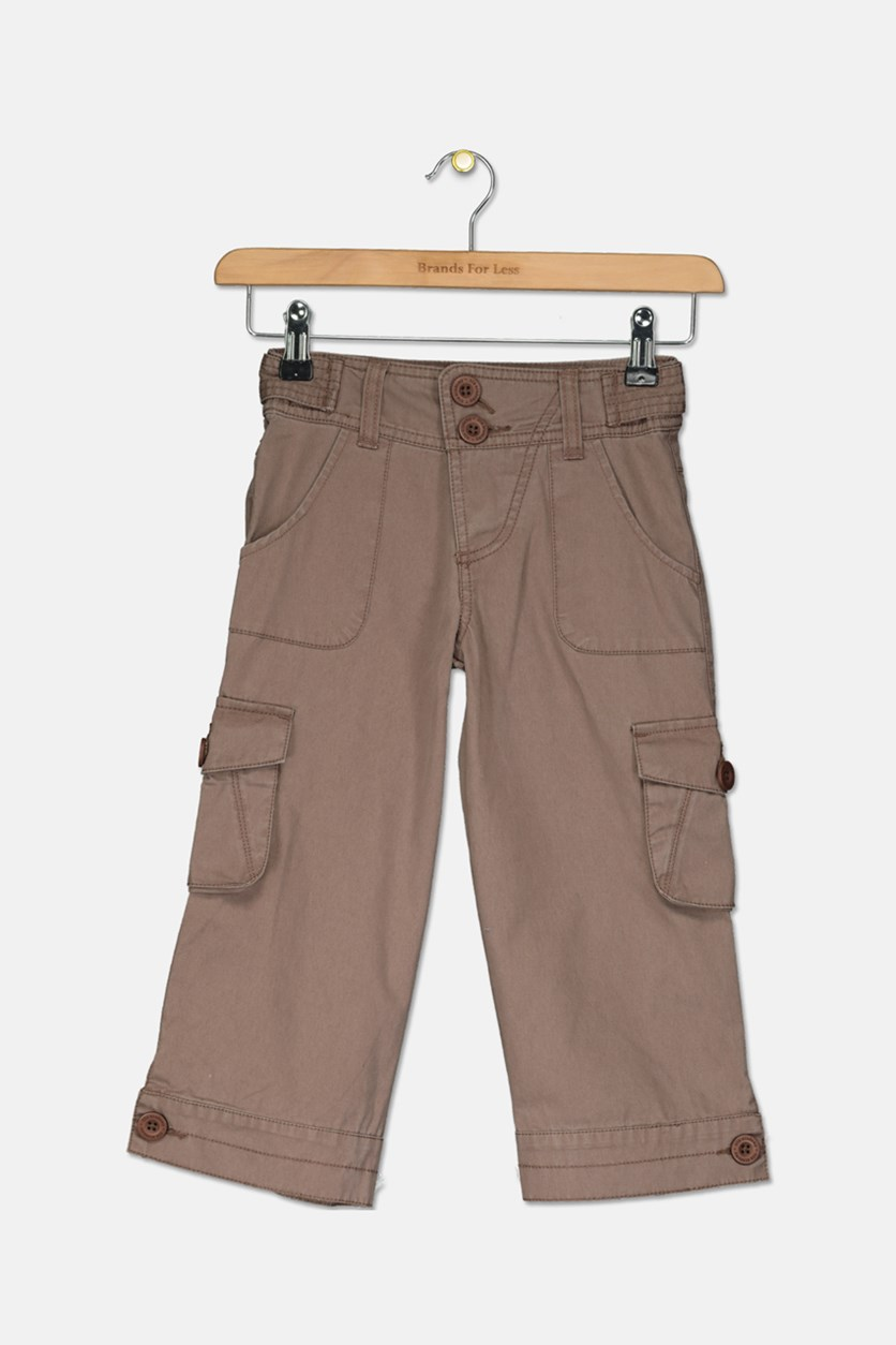 Girls Cargo Pants, Brown