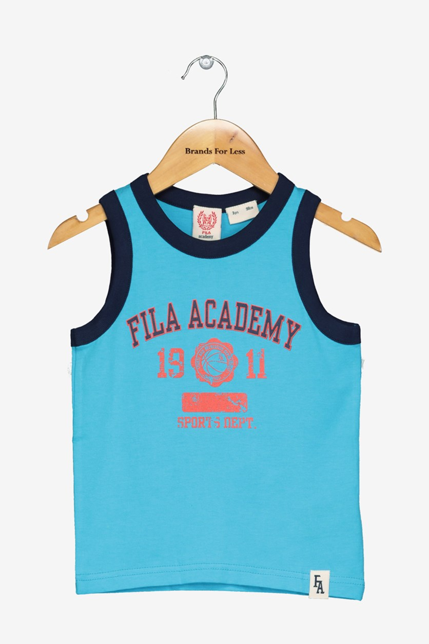 Academy Little Boy's Graphic Print Tank, Blue