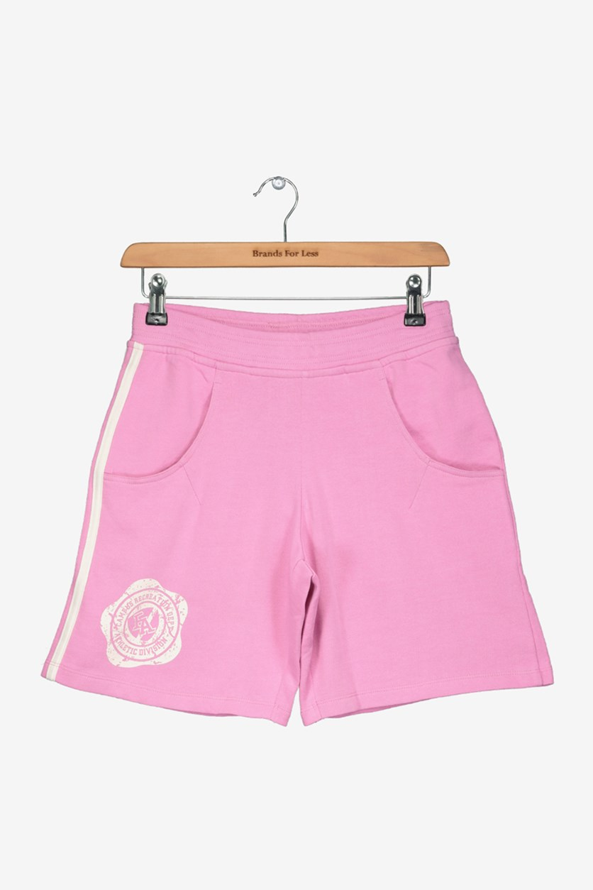 Academy Boy's Graphic Print Short, Pink