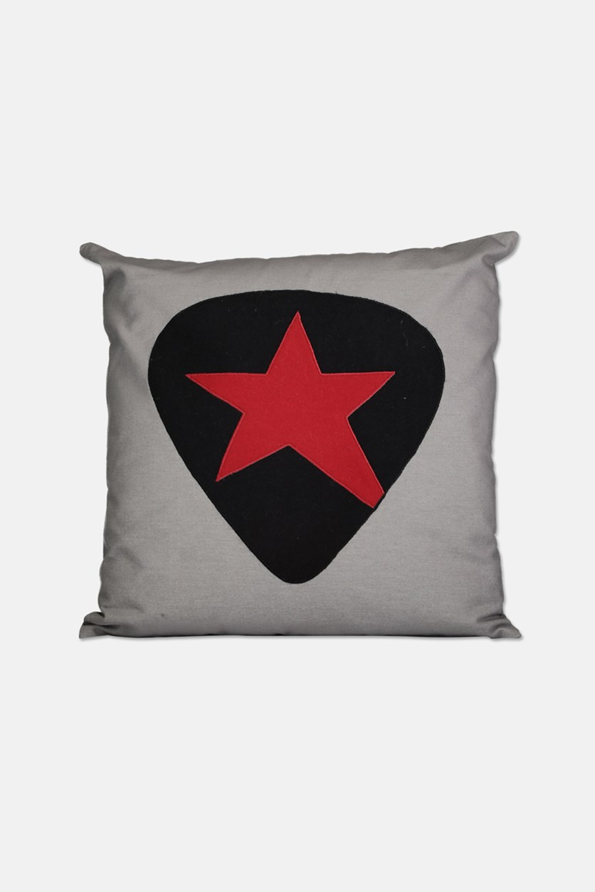 Andrew Charels ( 51 x 51 cm ) Star Decorative Pillow, Gray/Red/Black