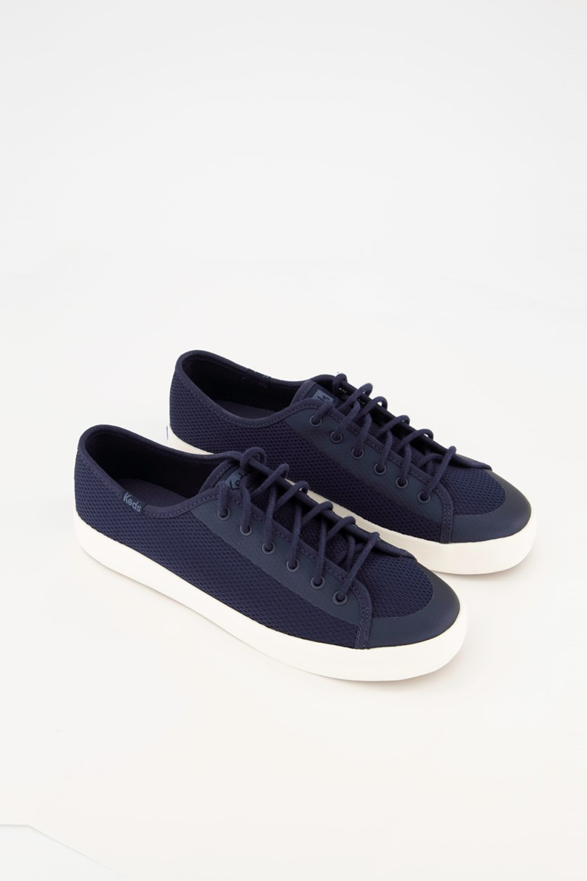 Women's Kick Start Diamond Mesh Lace Up Shoes, Navy