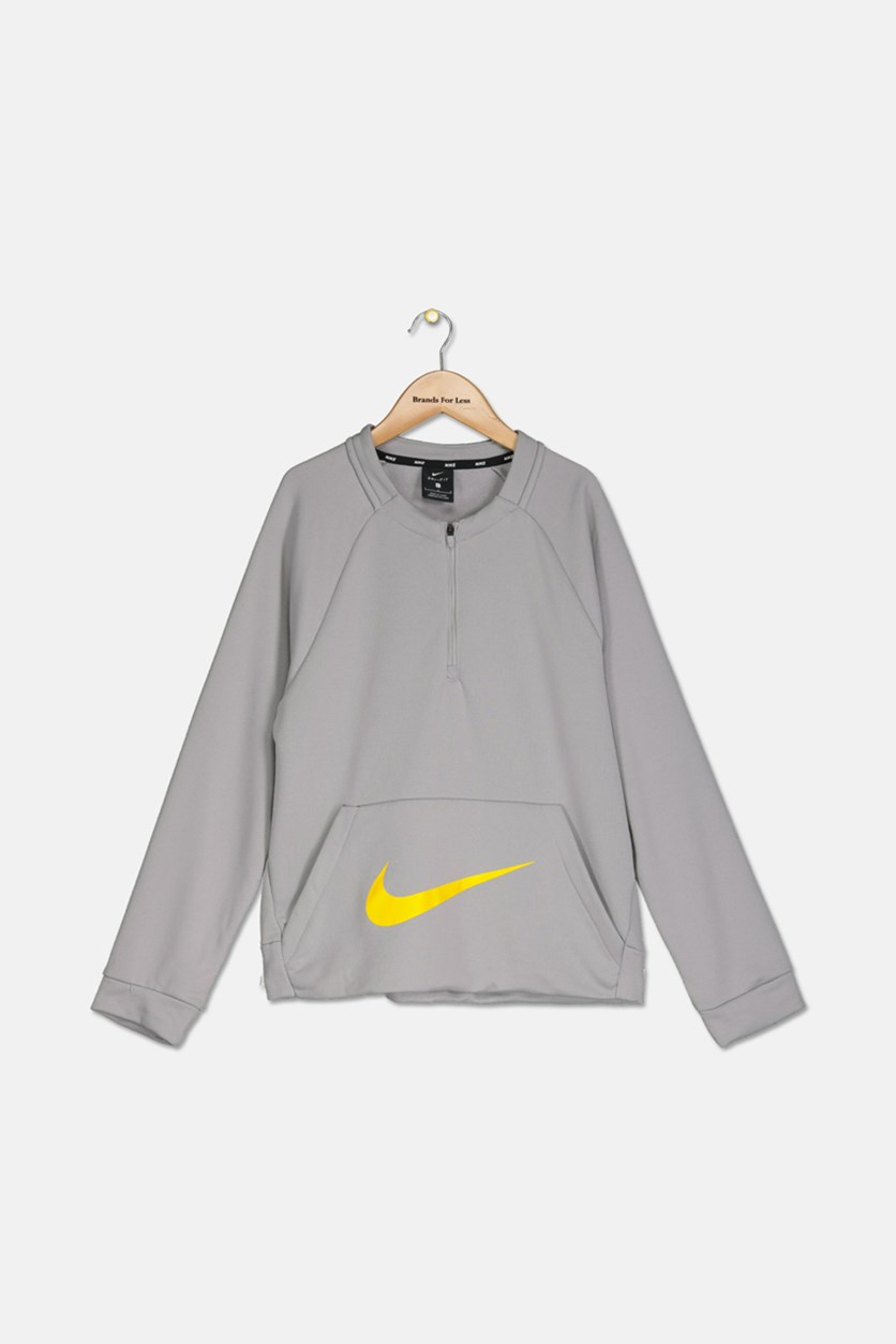 Boys Training Crew-Neck Sweatshirt, Gray