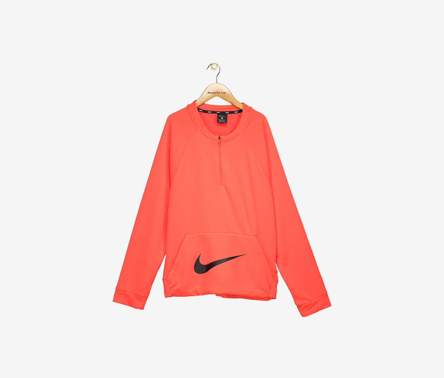 Big Boy's Crew-Neck Sweatshirt, Neon Coral