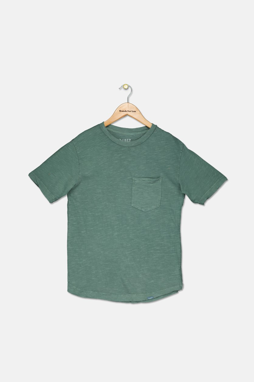 Big Boy's Chest Pocket Tee, Green