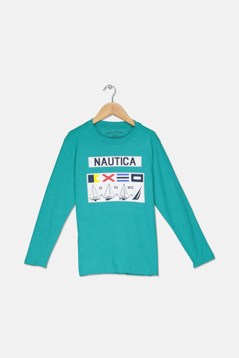 Big Boys Gio Long-Sleeve Tee, Teal