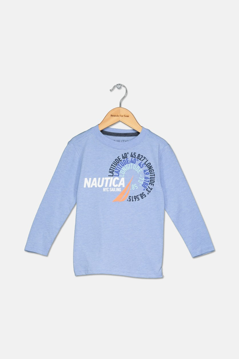 Toddlers Boys' Latitude Long-Sleeve Tee, Corn Blue