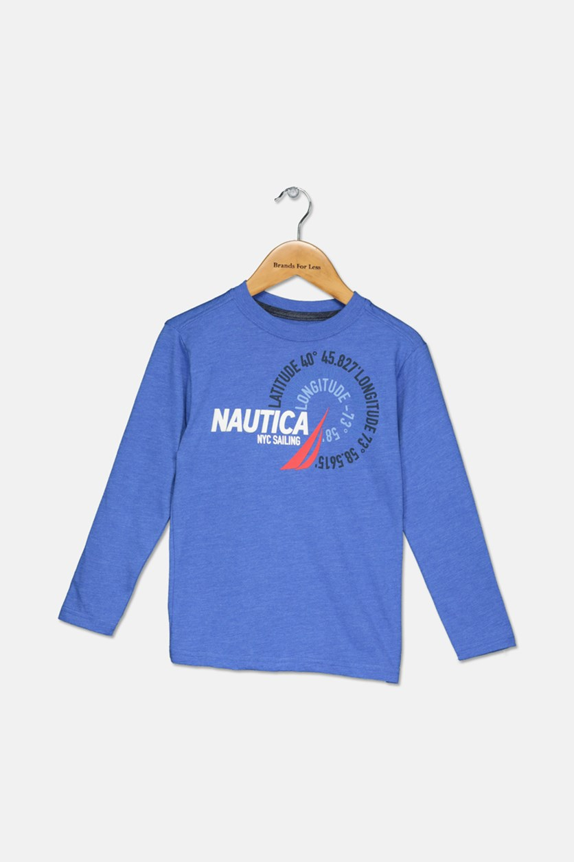 Little Boys' Latitude Long-Sleeve Tee, Blue