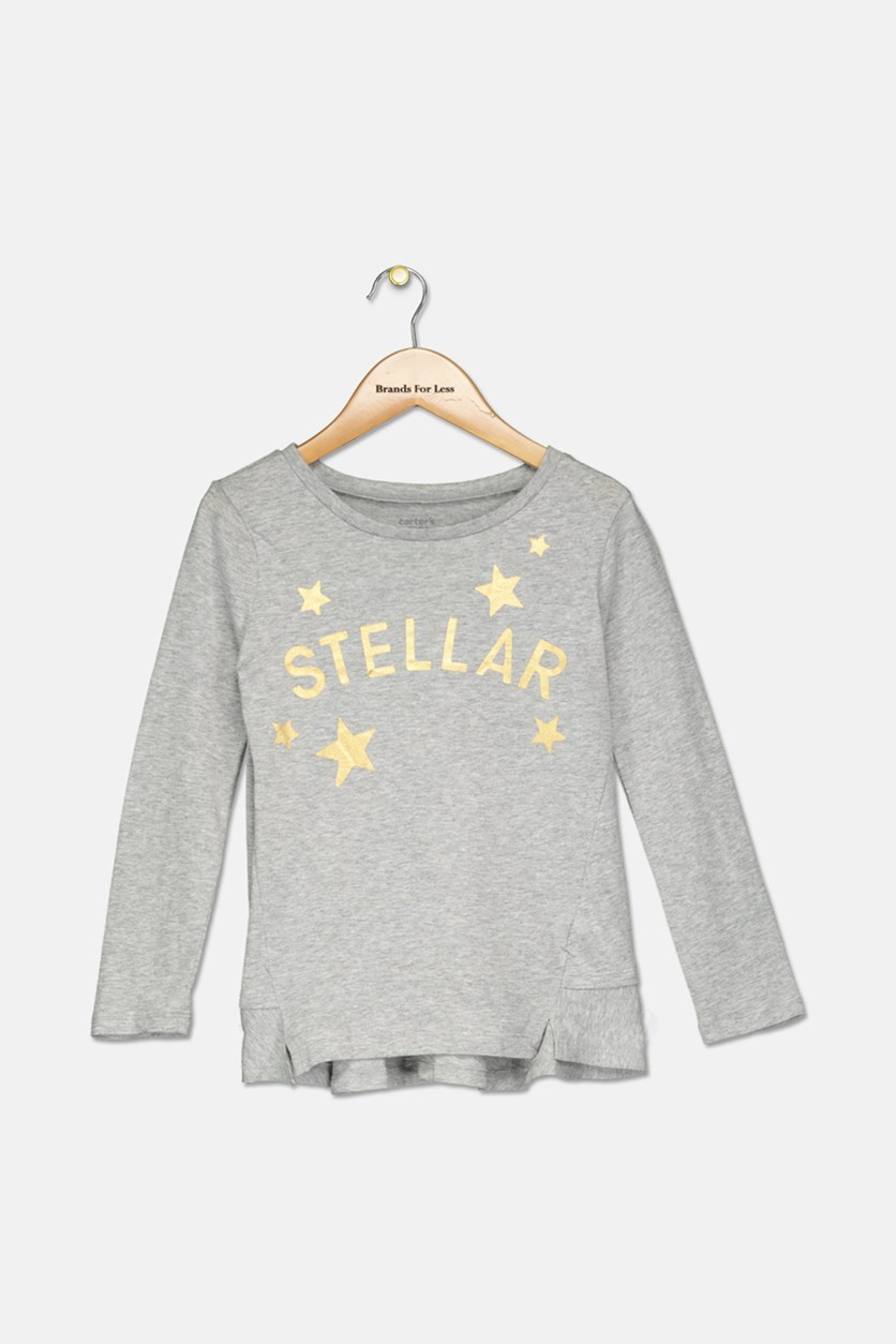 Big Girls' Long Sleeve Stellar Tee, Heather