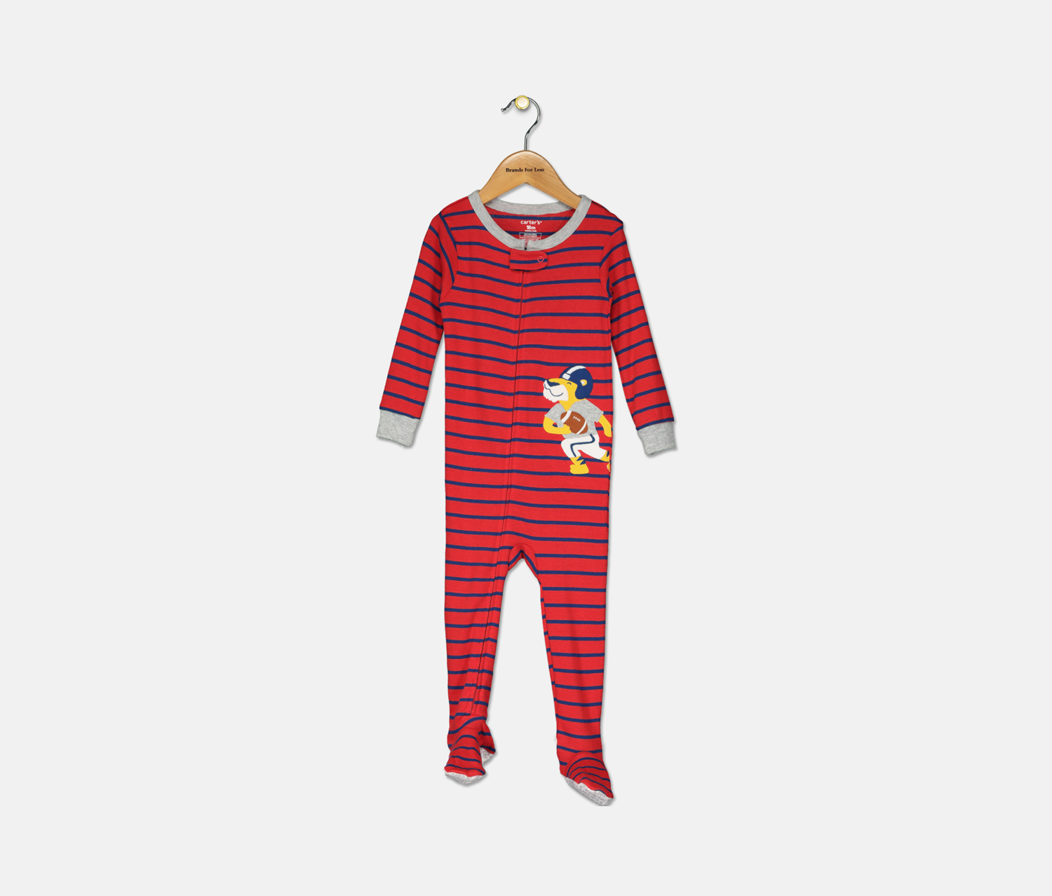 Carter's Baby Boys Cotton Footed Bodysuit, Red