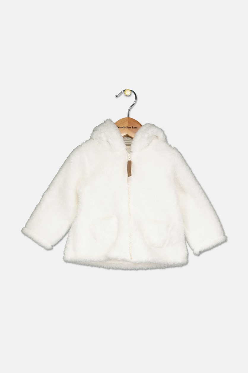 Carter's Baby Boys & Girls Hooded Fleece Jacket, Ivory