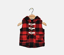 Carter's Toddlers Boy's Sleeveless Hooded Top, Red/Black