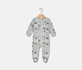Carter's Baby Boys Dog Print Footed Coverall, Gray