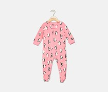 Carter's Baby Girls Penguin-Print Footed Pajamas, Pink