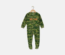 Carter's Infant Boys' 1-Piece Fleece Awesome Brother Pajamas, Camouflage