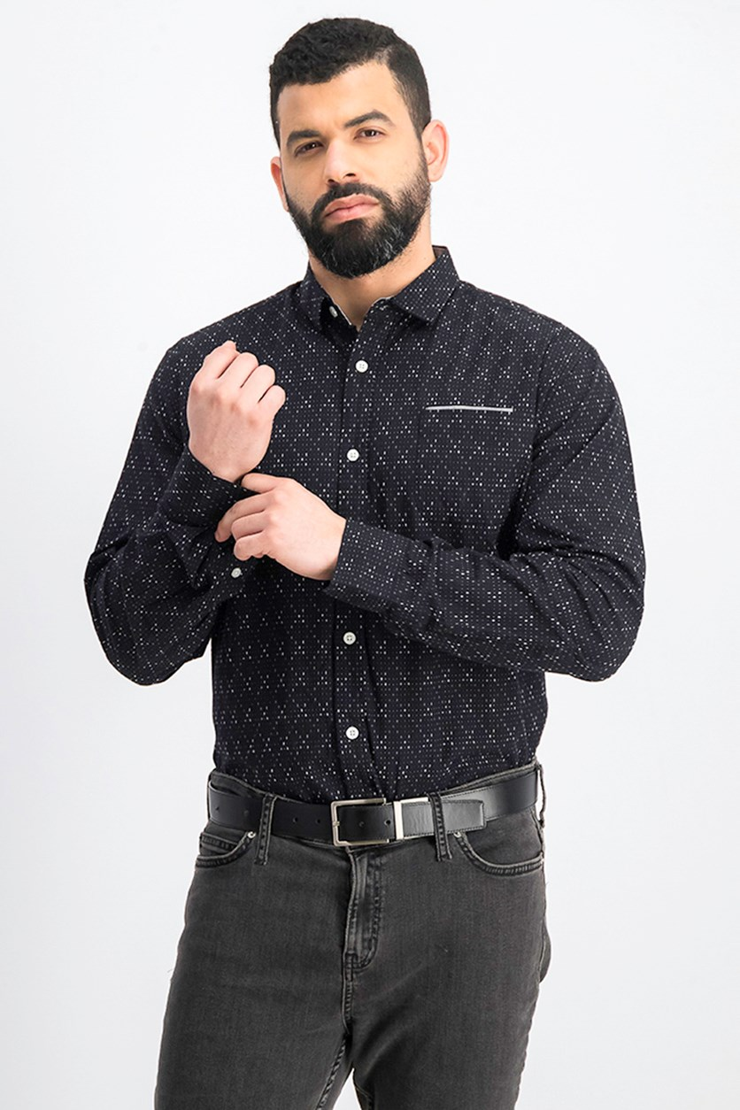 Men's Textured Shirt, Black