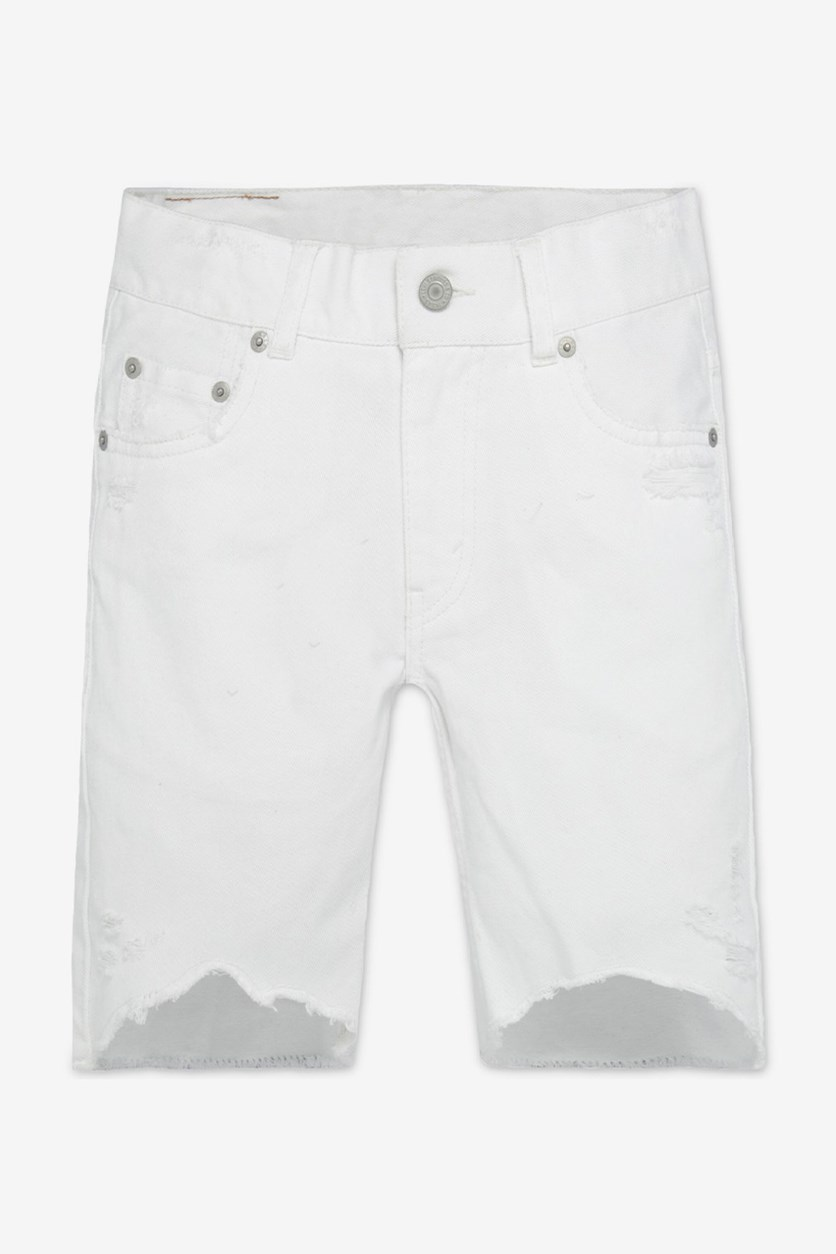 511 Destroyed Cotton Denim Shorts, White