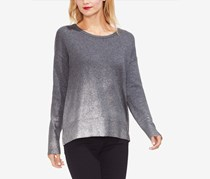 Foiled-Ombre Sweater, Heather Grey