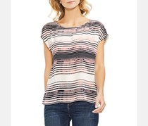 Vince Camuto Women's Cap Sleeve Ancient Muses Blouse, Stripe