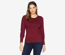 Vince Camuto Bubble Long Sleeve Top, Red