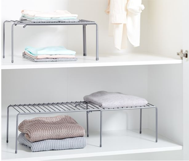 2 Variable Shelf Inserts, Silver