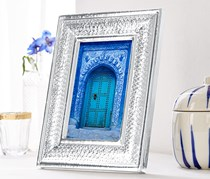 Picture Frame In Hammered Look, Silver