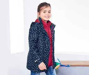 Girl's 3 in 1 Allwetterjacke, Navy/Pink