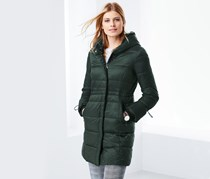 Women's Quilted Coat, Green