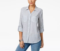 Style & Co Women's Cotton Striped Shirt, Nueva Stripe