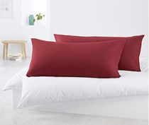 2 Pillowcases In Jersey, Maroon