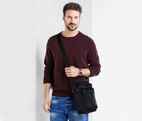 Men's Cross Bag, Black