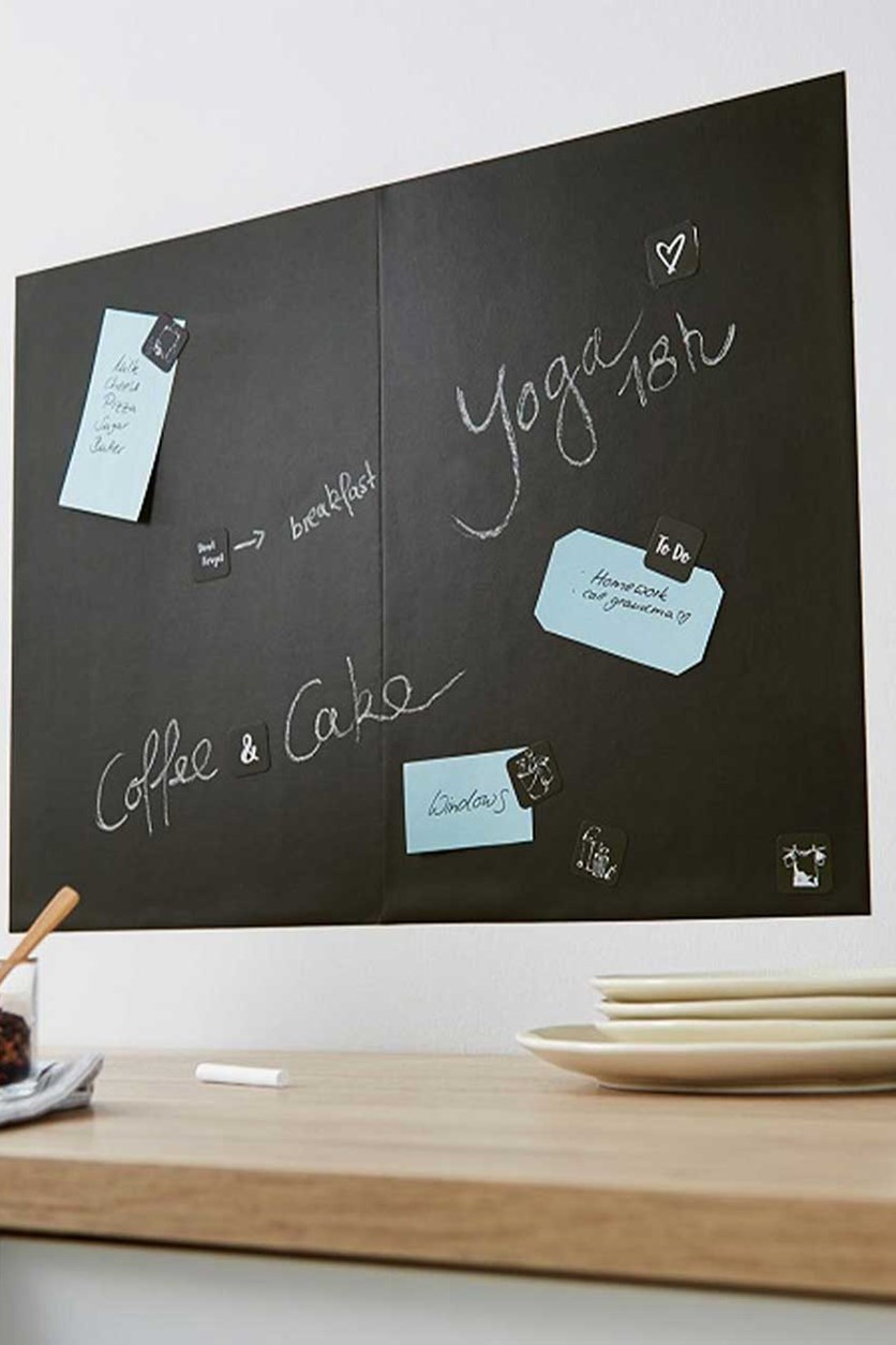 2 Self-Adhesive Blackboards, Black
