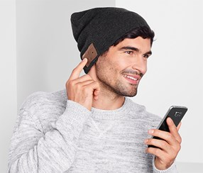 Men's Beanie Hat, Dark Grey