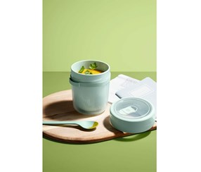Soup Container, Transparent/Water Green