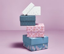 Set Of Boxes, Blue/Pink