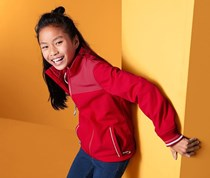 Girl's Softshell Jacket, Red