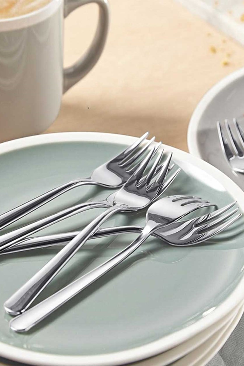 Pastry Fork Set Of 6, Silver