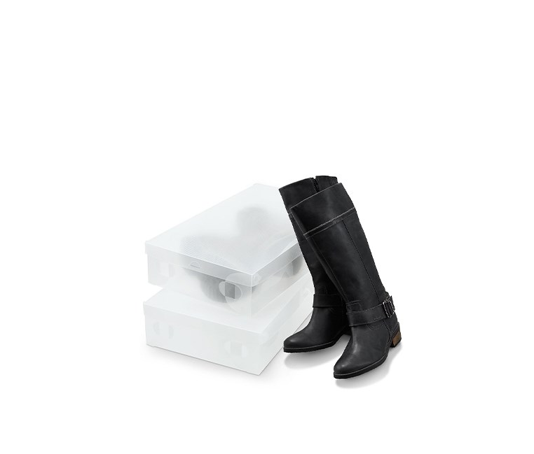 2 Boot Storage Boxes, Transparent