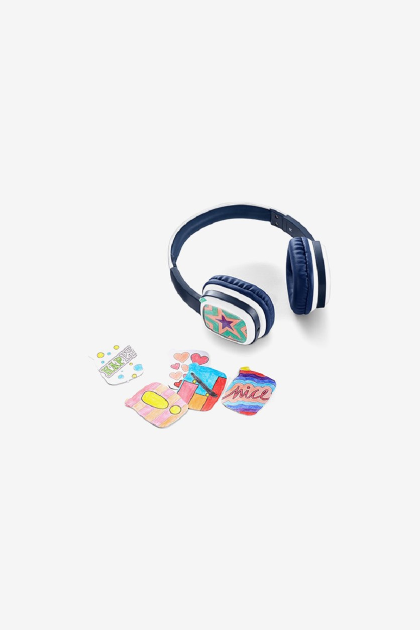 Kids Headphone With Painting Cards, Navy