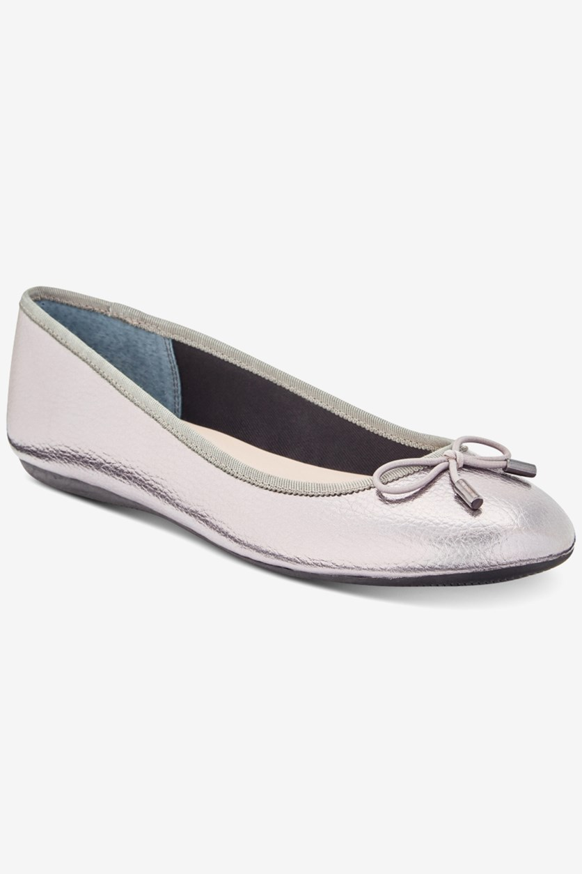 Women's Step 'N Flex Aleaa Ballet Flats, Pewter
