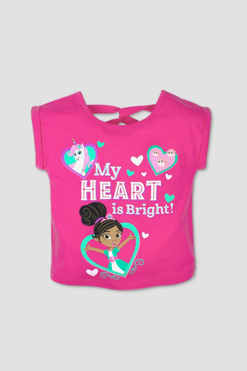 Toddler Girl's  Nella the Princess Knight  Short Sleeve T-Shirt, Pink